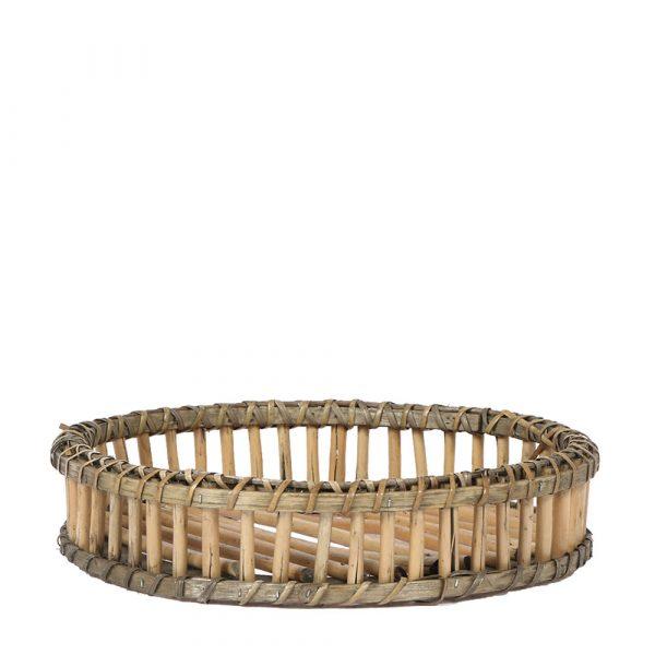 Rond bamboe dienblad