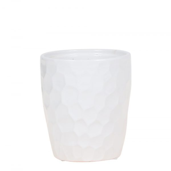 Kolibri Home - bloempot sierpot honey pot white wit 9cm