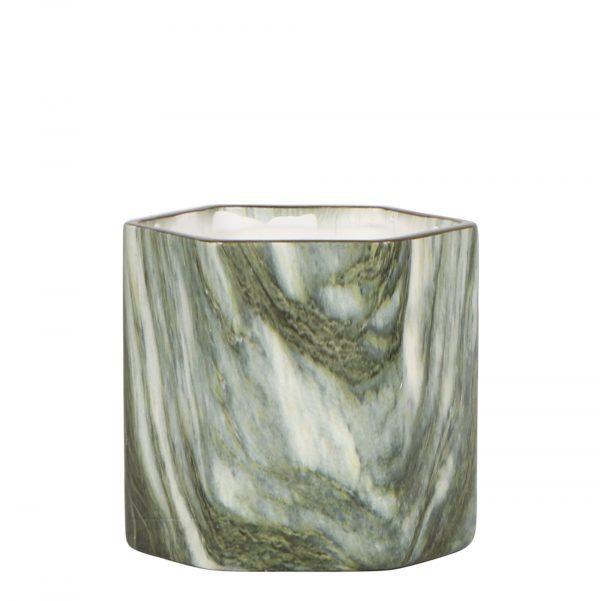 Kolibri Home - bloempot sierpot marble groen hexagon 9cm