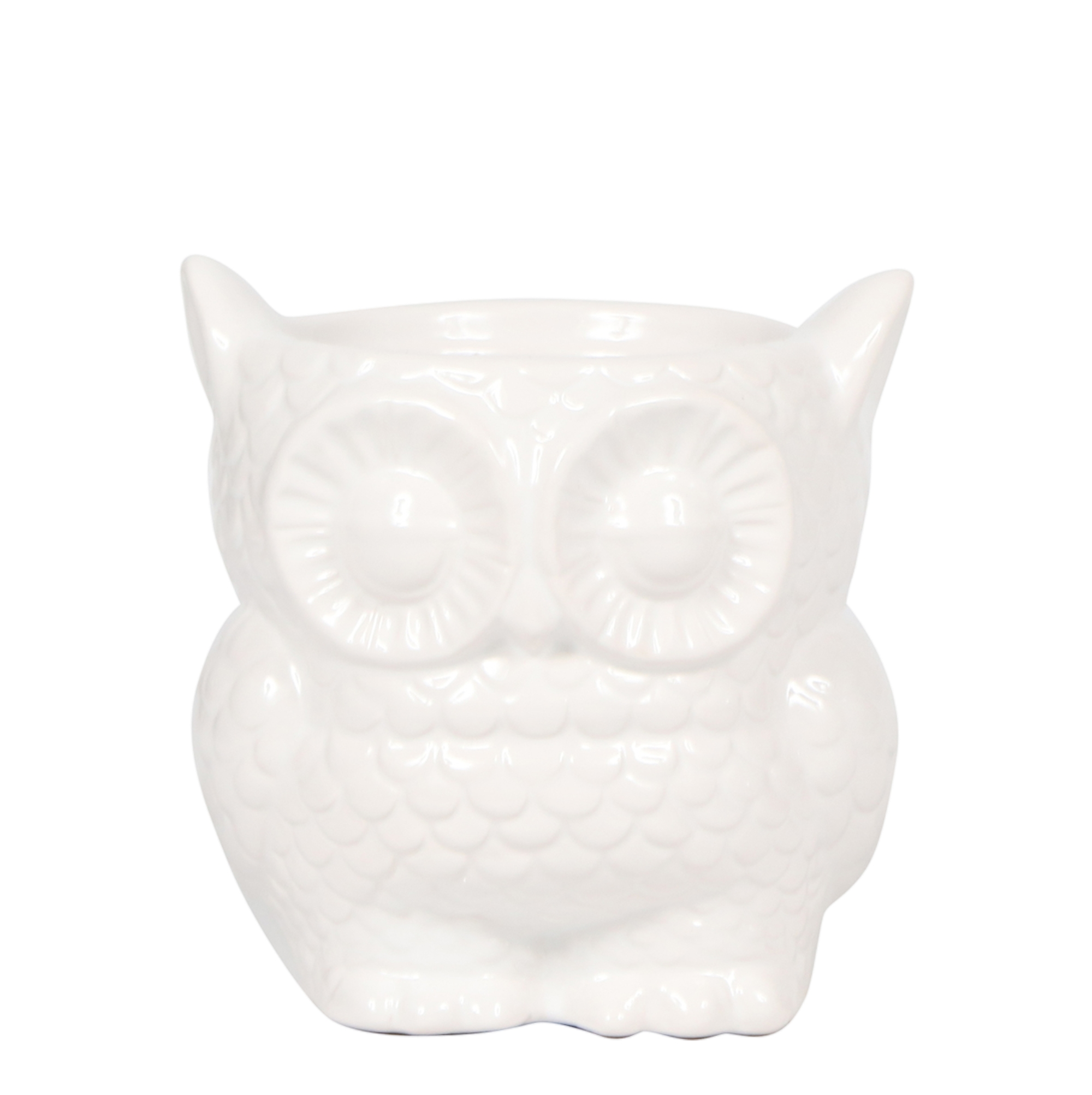 Kolibri Home - bloempot sierpot owl pot white 9cm