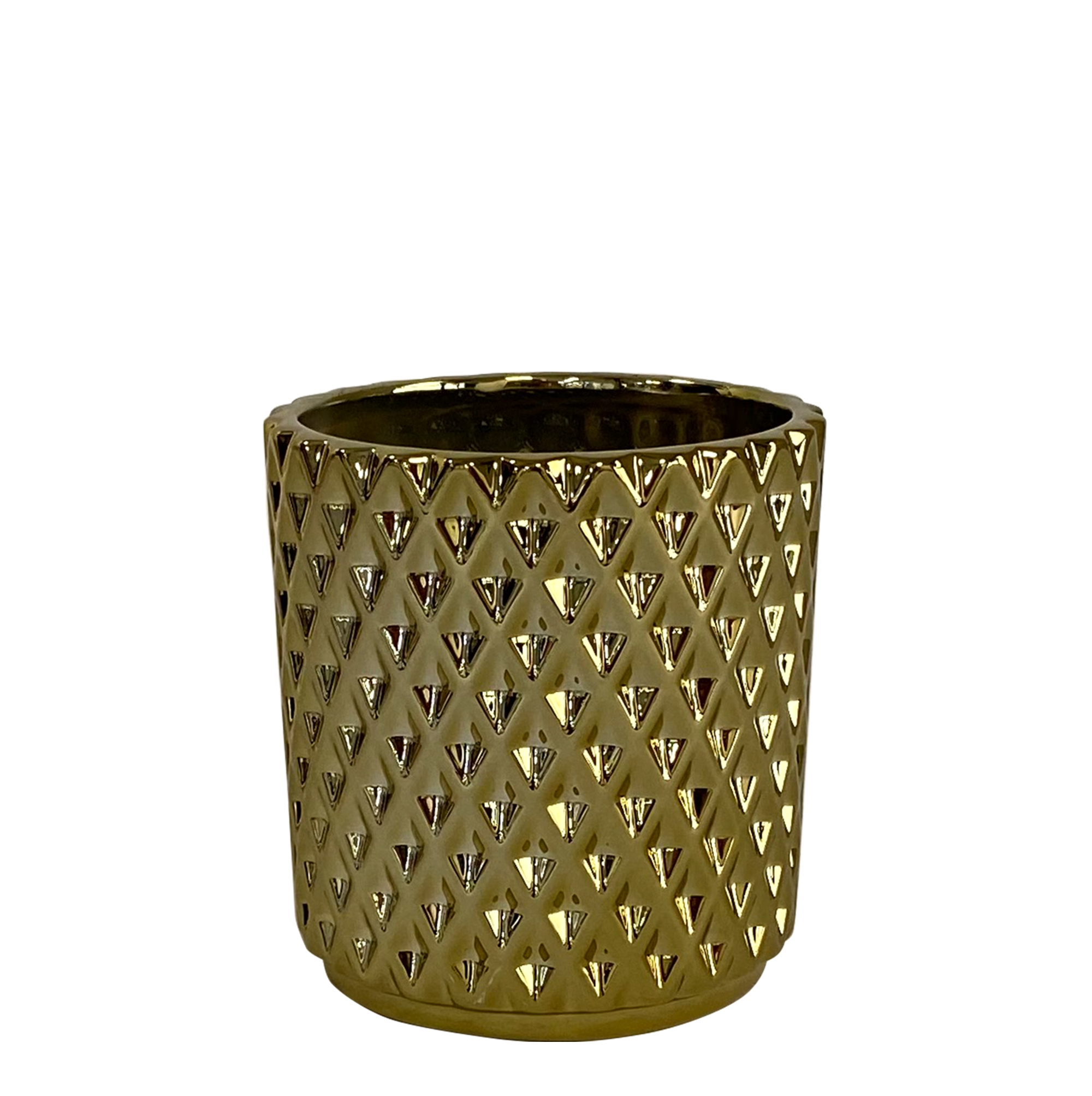 Kolibri Home - bloempot sierpot pot diamond pot goud 9cm
