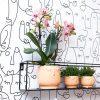 Kolibri Home - bloempot sierpot pot happy face orange orange 9cm 6cm