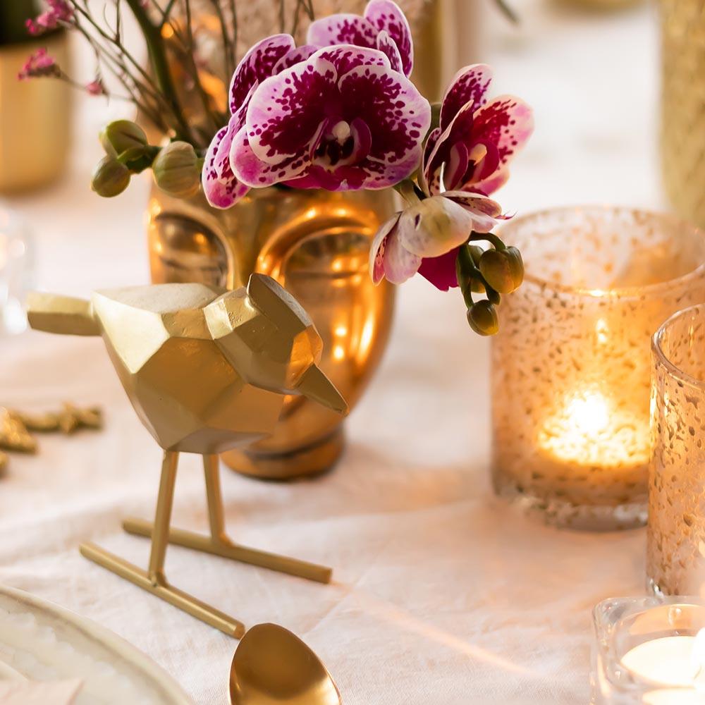 Kolibri Home - gouden jaguar ornament
